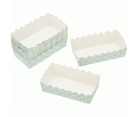 12 mini cápsulas rectangulares de cartón 10x5x3