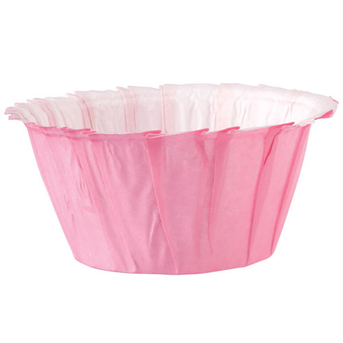 24 cápsulas con volantes rosa