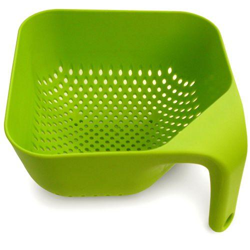 Colador cuadrado verde