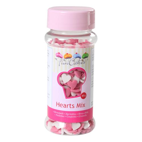 Mix corazones rosa/blanco