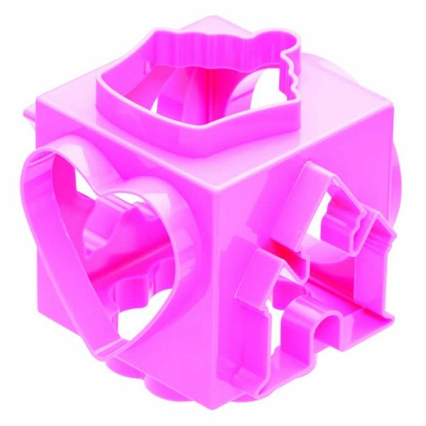 Cubo rosa cortadores 6 caras diferentes