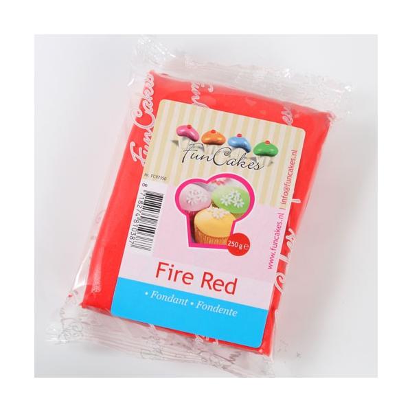 Fondant FunCakes Rojo 250 gr
