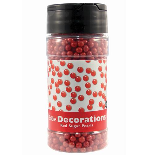 Perlas de Azúcar Rojas