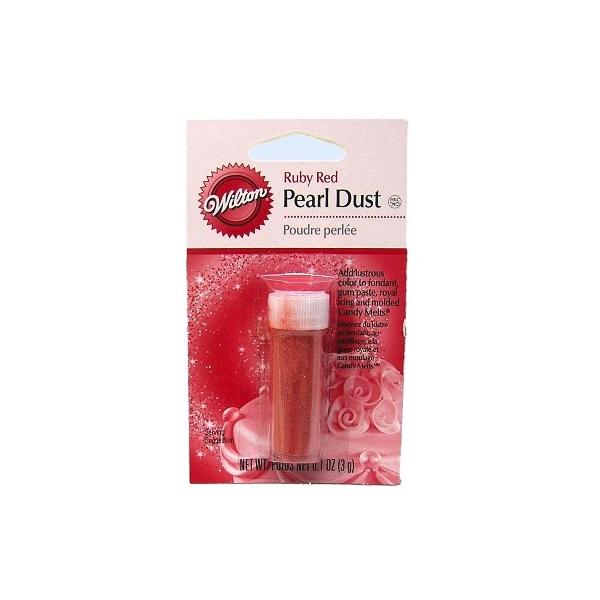 Polvo de Brillo Perlado Rojo Rubí