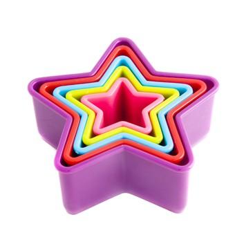 Set 5 cortadores estrellas colores